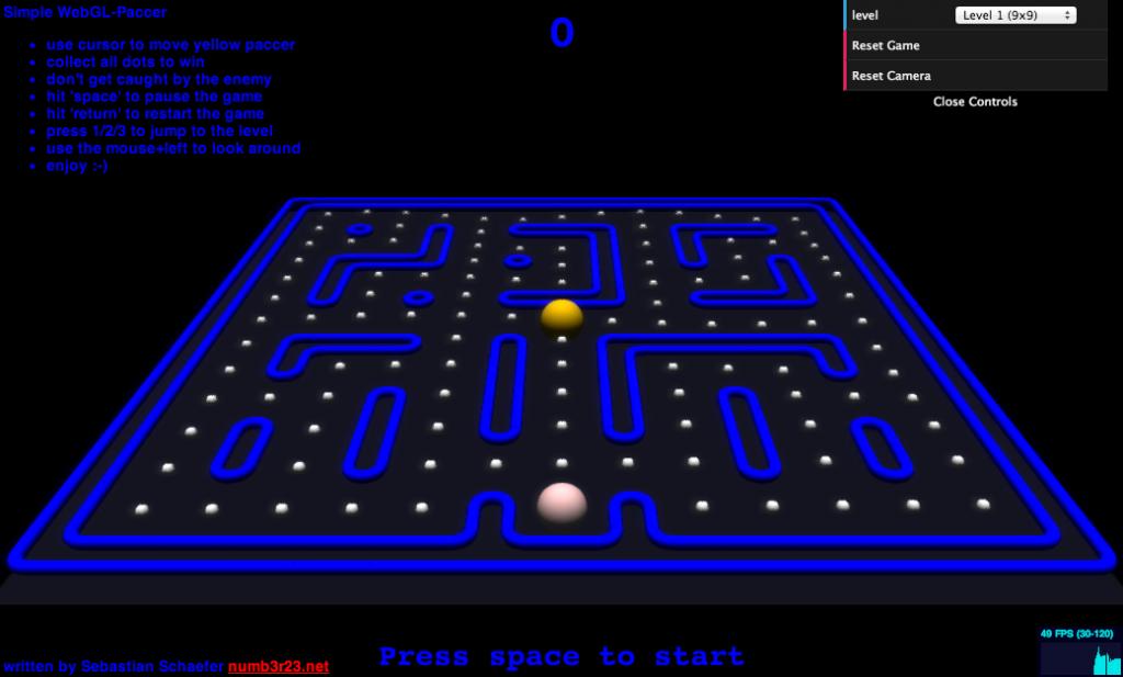 WebGL-Paccer